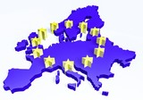 3d european union map