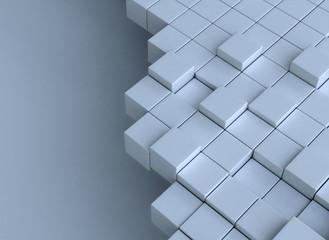 3d cubes building concept