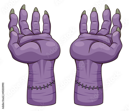 illustration of hand zombie. Vector