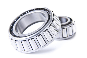 Wheel Bearings on White Background