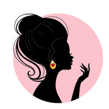 Beautiful silhouette woman