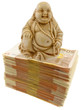 Bouddha chinois, symbole richesse sur billets