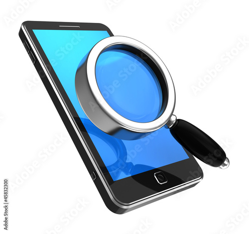 Smartphone with magnifier