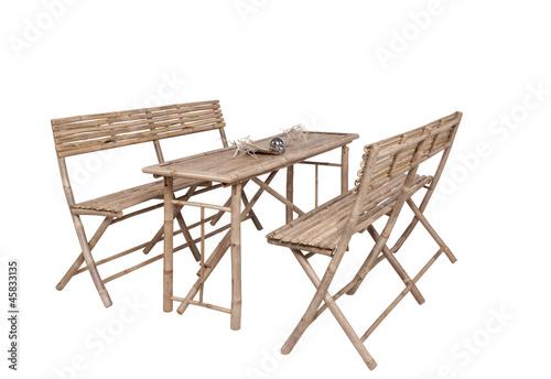 Fototapete bambus gartenm bel 2 b nke 1 tisch for Gartenmobel asiatisch
