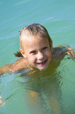 Little girl in water
