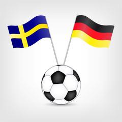 Deutschland - Schweden Fußballspiel