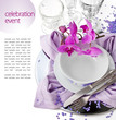 Festive Table Setting with Orchid