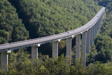 The viaduct over canyon in Ligurian Alps, Italy - 45834512
