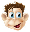 Laughing happy monkey face cartoon