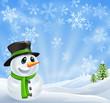Fototapeten,weihnachten,schneemann,hintergrund,schneeflocke
