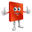 Red book man doing thumbs up