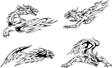 Dragon flame tattoos