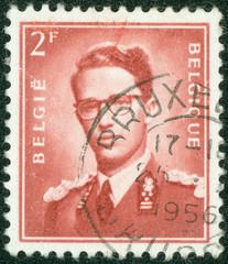stamp printed in Belgium shows King Baudouin