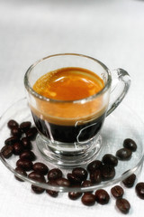 Espresso Shot and Coffee Berry