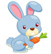 illustration of cartoon rabbit vector