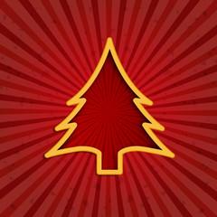 Grunge Vector Creative Christmas tree