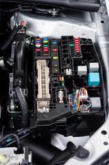 Closeup photo of a clean motor block
