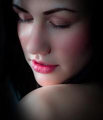 Beautiful woman in studio