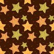 Brown background with the drawn stars