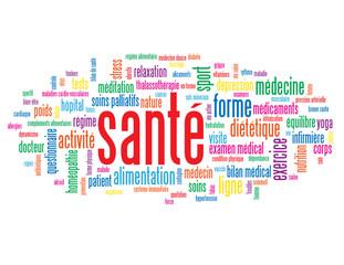 "Nuage de Tags ""SANTE"" (sports vie médecine exercice poids)"