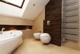 Brown and creamy bathroom