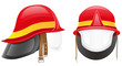 firefighter helmet vector illustration