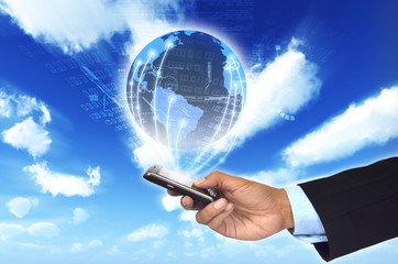 Worldwide information network from a smart phone