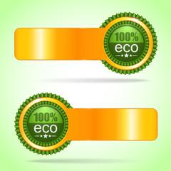 Gold label. 100% eco