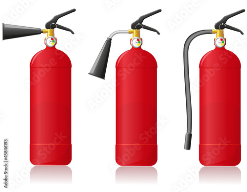 fire extinguisher vector illustration