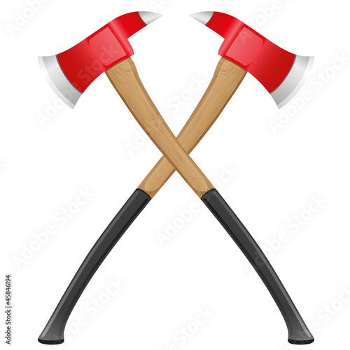 firefighter ax vector illustration