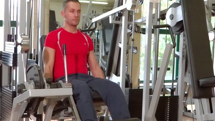 man doing workout
