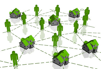Real Estate Market, green house network