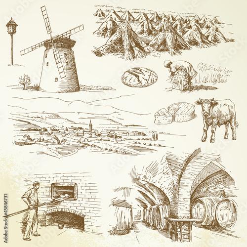 agriculture, rural village - 45846731