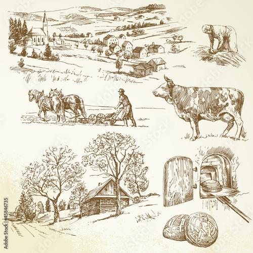 krajobraz wiejski, rolnictwo, rolnictwo