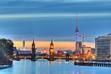 Fototapety Berlin Fernsehturm Oberbaumbrücke