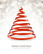 Christmas tree from ribbon vector background