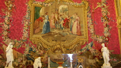 palace interior in Pavlovsk St. Petersburg Russia