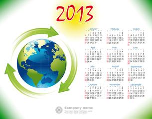 2013 Calendar reciclage English version