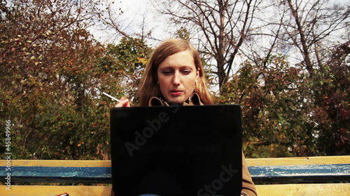 girl with a laptop