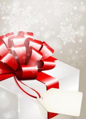 weihnachtsgeschenk mit label