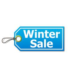 Etiqueta 3d con texto Winter Sale