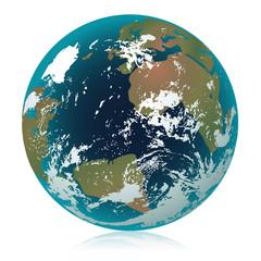 Globe terrestre bleu