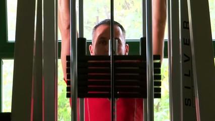 brawny man at the gymnasium