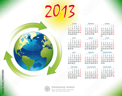 2013 Calendar reciclage Spanish version
