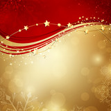 Fototapety Vector Illustration of an Abstract Christmas Background