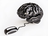 Metallic Brain with Mouse