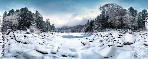 canvas print picture Frillensee im Winter