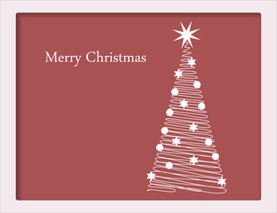 Christmas card with tree