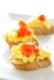 Egg and Lox Crostini