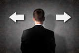 Business person choose future direction